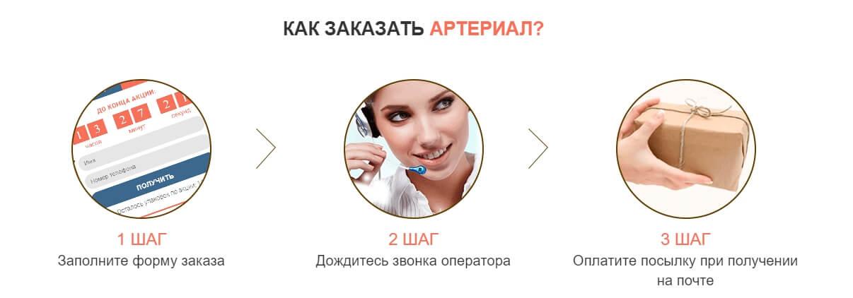 Как оформить заказ и получить Артериал в Москве